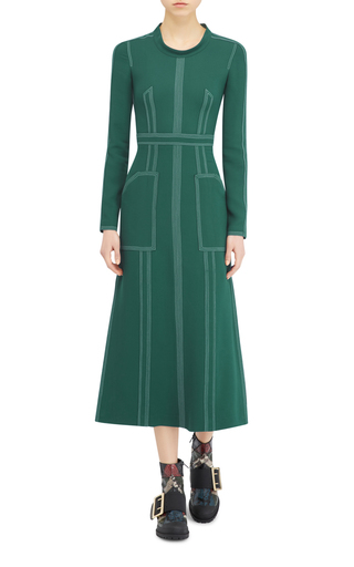 Georgette Long Sleeve Dress by BURBERRY Now Available on Moda Operandi