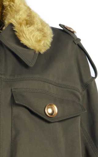 Shearling Field Jacket by BURBERRY Now Available on Moda Operandi