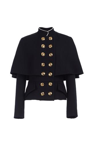 Medium burberry black military cape jacket