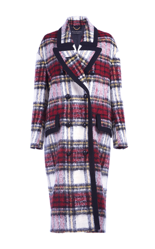 Medium burberry plaid oversized lapel checkered coat