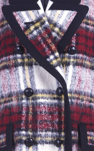 Plaid Double Breasted Coat  by BURBERRY Now Available on Moda Operandi