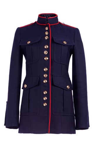 Medium burberry navy regimental jacket with military piping
