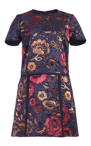 Medium burberry floral metallic floral jacquard pleated shirt dress