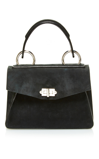 Medium proenza schouler black suede hava handbag