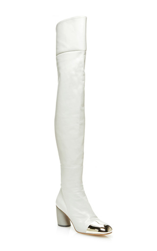 Medium proenza schouler light grey sorentino thigh high boot
