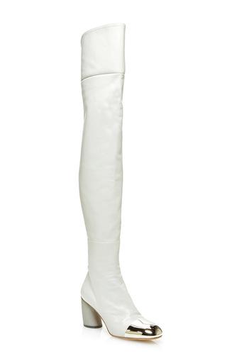 Medium proenza schouler light grey sorentino thigh high boot