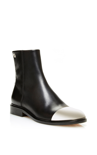 Medium proenza schouler black steel toe chelsea boot