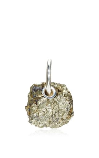 Medium proenza schouler silver single stone earrings  4