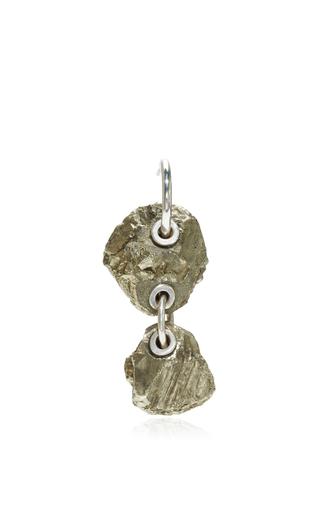Medium proenza schouler silver double stone earrings  4