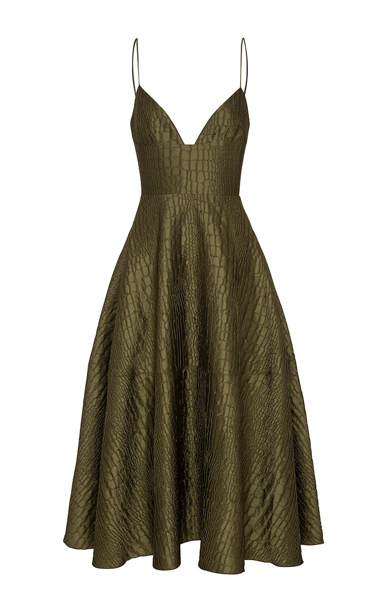 Love the Look! Reptile Midi Dress