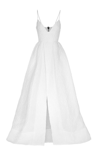 Medium alex perry white karla cloque bikini bodice gown