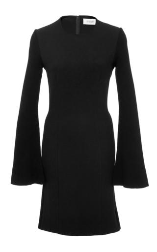 Medium derek lam 10 crosby black long sleeve shift dress with ribbed sleeves