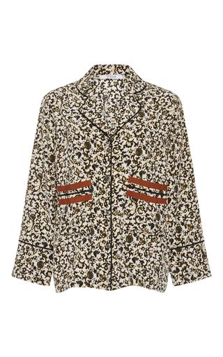 Medium derek lam 10 crosby floral rococo floral long sleeve silk pajama blouse
