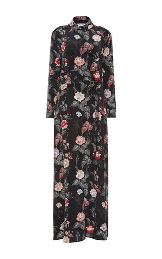 Medium equipment floral major maxi shirt dress