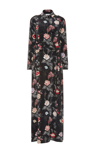 Medium equipment floral major maxi shirt dress