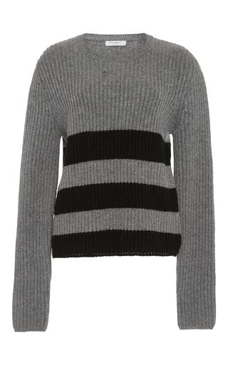 Medium equipment light grey carson striped sweater