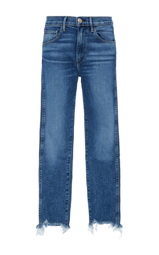 Medium 3x1 light wash w3 straight cropped jeans