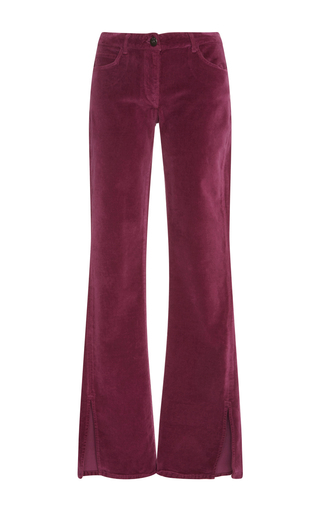 Medium 3x1 pink w2 mid rise flare jeans