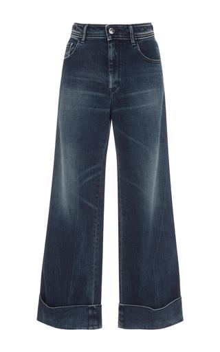 Medium seafarer dark wash harry mid rise cropped jeans