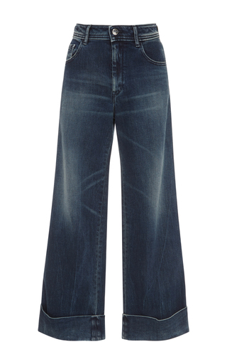 Medium seafarer dark wash harry mid rise cropped jeans