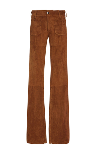 Cognac Mid Rise Trousers by SEAFARER Now Available on Moda Operandi