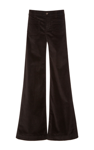 Medium seafarer black janis corduroy flare pants