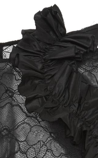 Sleeveless Ruffle Peplum Top by OSCAR DE LA RENTA Now Available on Moda Operandi