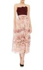 Strapless Floral Cocktail Dress by OSCAR DE LA RENTA Now Available on Moda Operandi