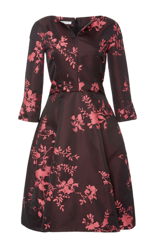 Medium oscar de la renta floral floral a line dress