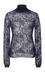 Long Sleeve Lace Turtleneck by OSCAR DE LA RENTA Now Available on Moda Operandi
