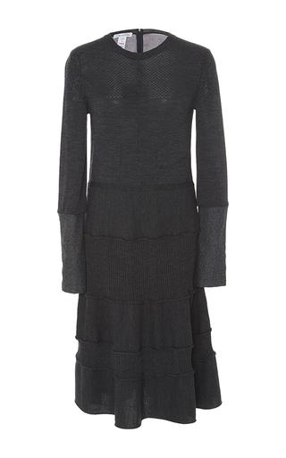 Long Sleeve Knit Dress by OSCAR DE LA RENTA Now Available on Moda Operandi