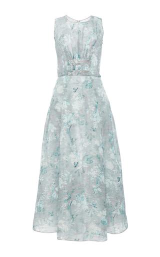 Medium oscar de la renta floral sleeveless floral gown