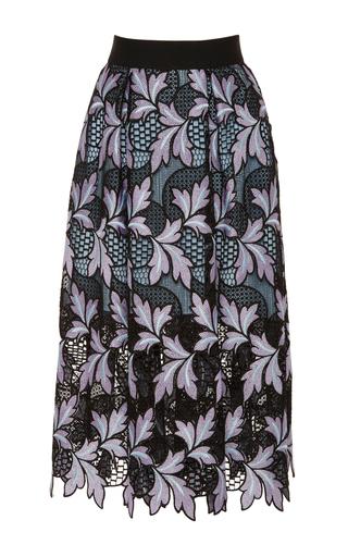Medium self portrait floral lace midi skirt
