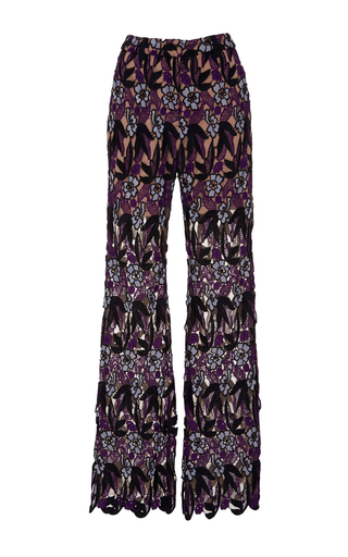 Medium self portrait floral lara high waist pants