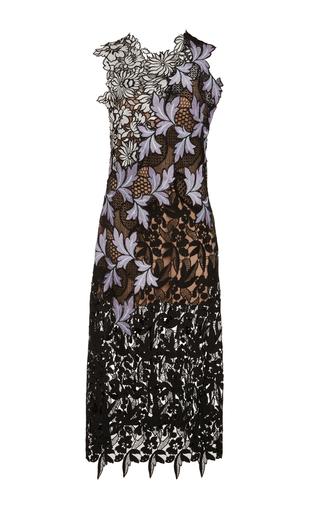 Medium self portrait floral lace patchwork midi dress