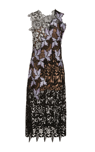 Medium self portrait floral lace patchwork midi dress