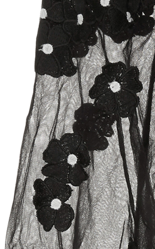 Daisy Dot Long Sleeve Jumpsuit by SELF PORTRAIT Now Available on Moda Operandi