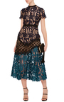 Lace Combo Midi Dress by SELF PORTRAIT Now Available on Moda Operandi