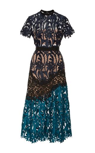 Medium self portrait multi lace combo midi dress