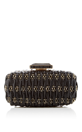 Medium oscar de la renta black goa clutch