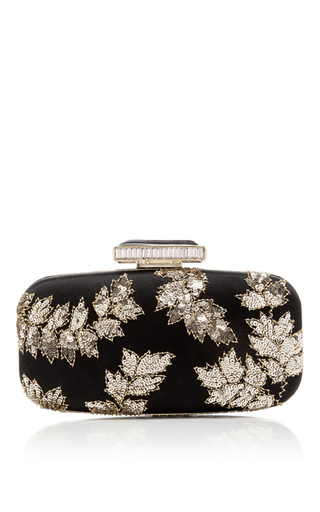 Medium oscar de la renta black goa clutch 3