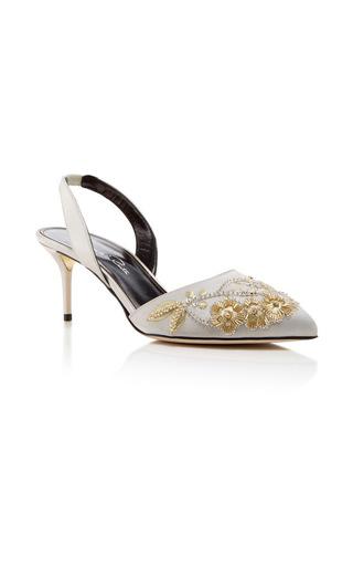 Medium oscar de la renta white pamie sling back heel