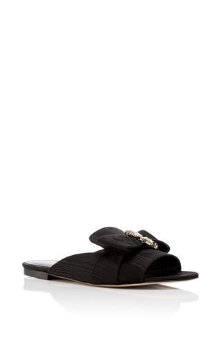 Medium oscar de la renta black nev crystal sandals 2
