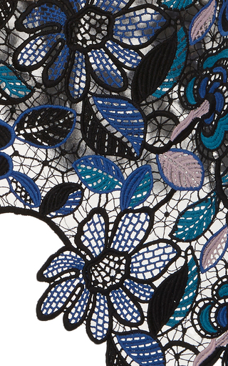 Celeste Lace Asymmetric Top by SELF PORTRAIT Now Available on Moda Operandi