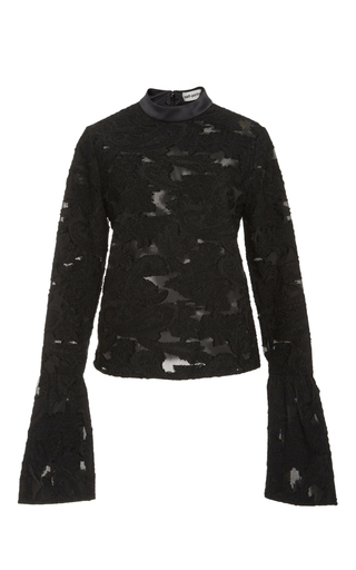 Fil Coupe Blossom Top by SELF PORTRAIT Now Available on Moda Operandi