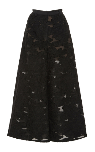 Wide Leg Fil Coupe Trousers by SELF PORTRAIT Now Available on Moda Operandi