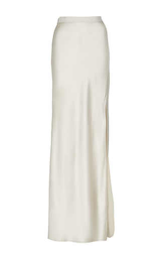 Medium nili lotan ivory maya split maxi skirt
