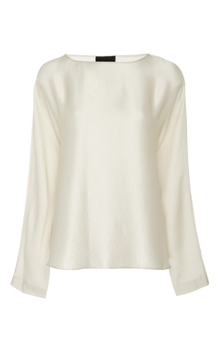 Medium nili lotan ivory reade silk top