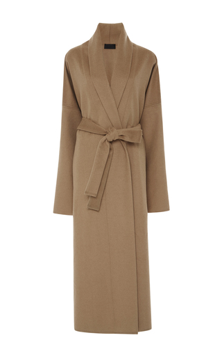 Medium nili lotan tan laight shawl coat