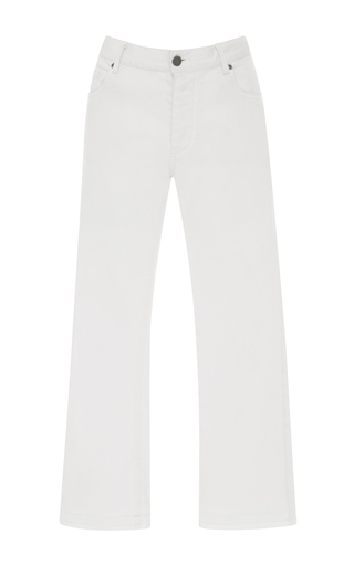 Medium nili lotan white mott crop jeans